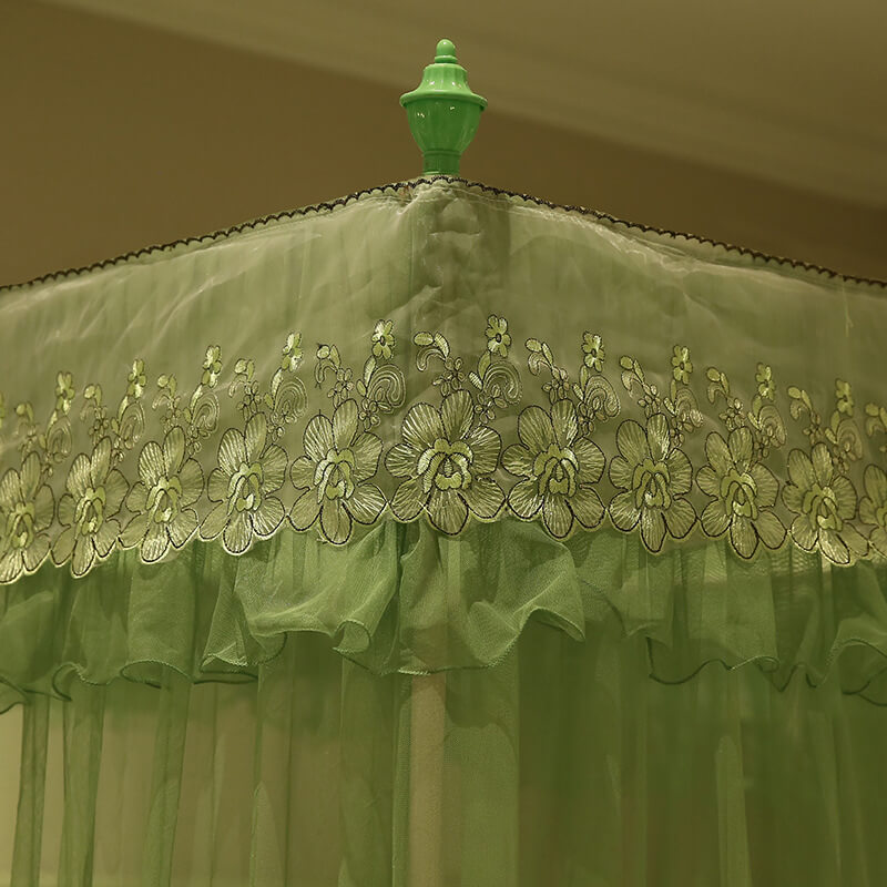 LeRadore Luxury Princess Style Mosquito Nets for Bed Thickened Steeless Stents Insect Net Mosquito Netting Curtains 3 Openings