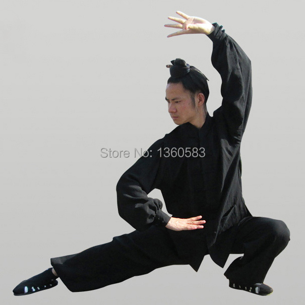 Custom 8colors Chinese Wudang Tai chi clothing Linen saolin kung fu Uniform Wing chun Training Suit wushu Morning exercise master recommend movement triangle frame wing chun wooden dummy donnie ye used standard kung fu wooden dummy martial arts