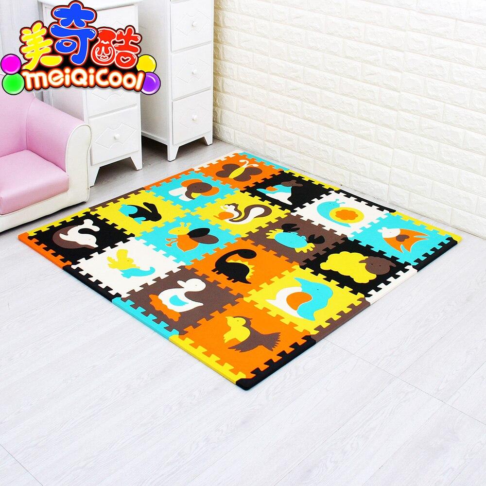 16 pièces avec de longs bords enfants tapis EVA mousse enfants bébé jouant doux ramper tapis pour enfants Puzzle tapis Gym jeu couvertures