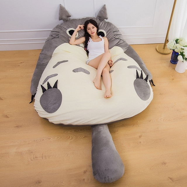 Kawaii Cartoon Totoro Mattress Cushion Plush Pillow 200 X 170cm Giant Totoro  Bed Japan Tatami Plush 2e2ec53ca6
