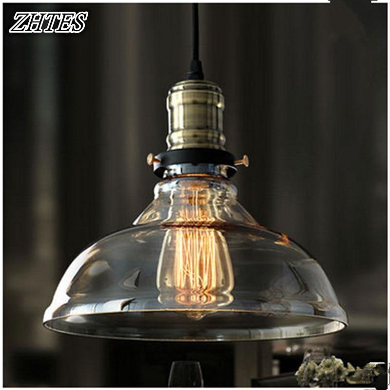 Vintage Glass Pendant Light Creative Cafe Pendant Lights