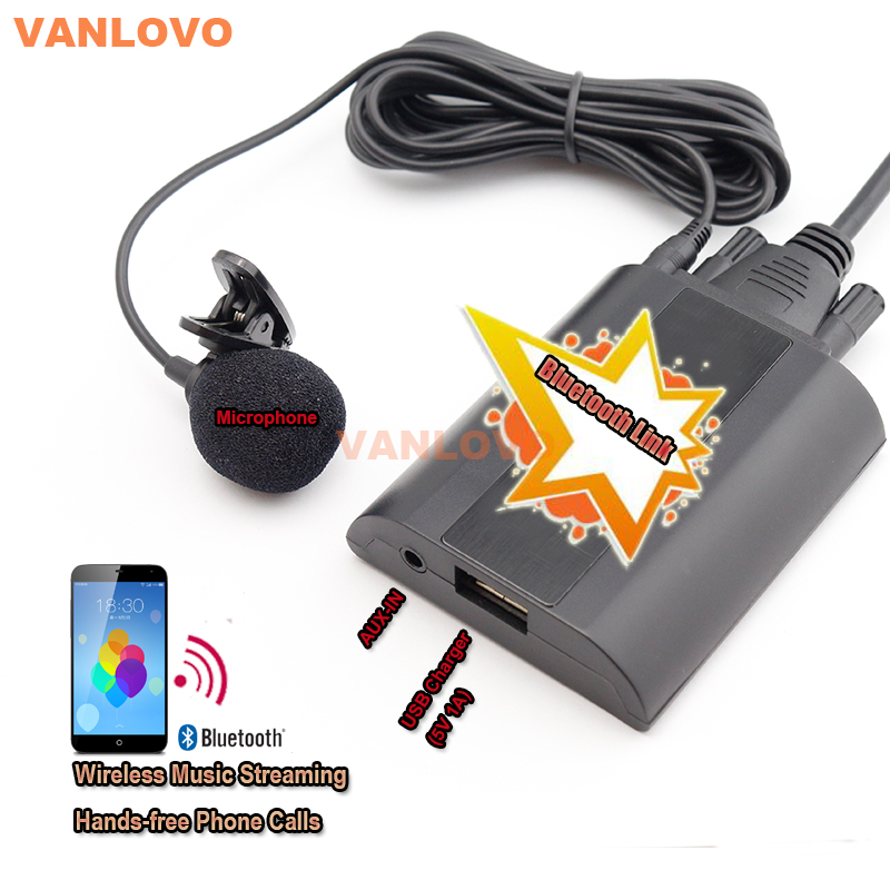 Bluetooth Link Car Kit With Aux-in Interface & USB Charger for VW Bora Caddy Eos Fox Lupo Golf Golf Plus Jetta Passat Polo