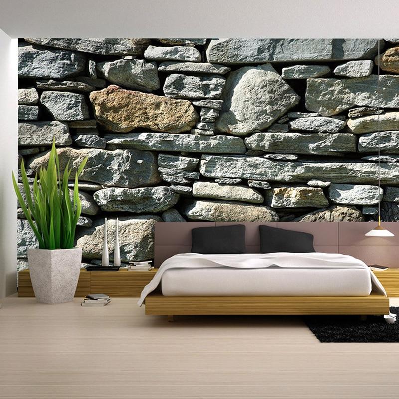 Papier peint 3D chambre salon Mural rouleau moderne de luxe pierre mur fond TV décoration de la maison 1*1 M pour salon WP131