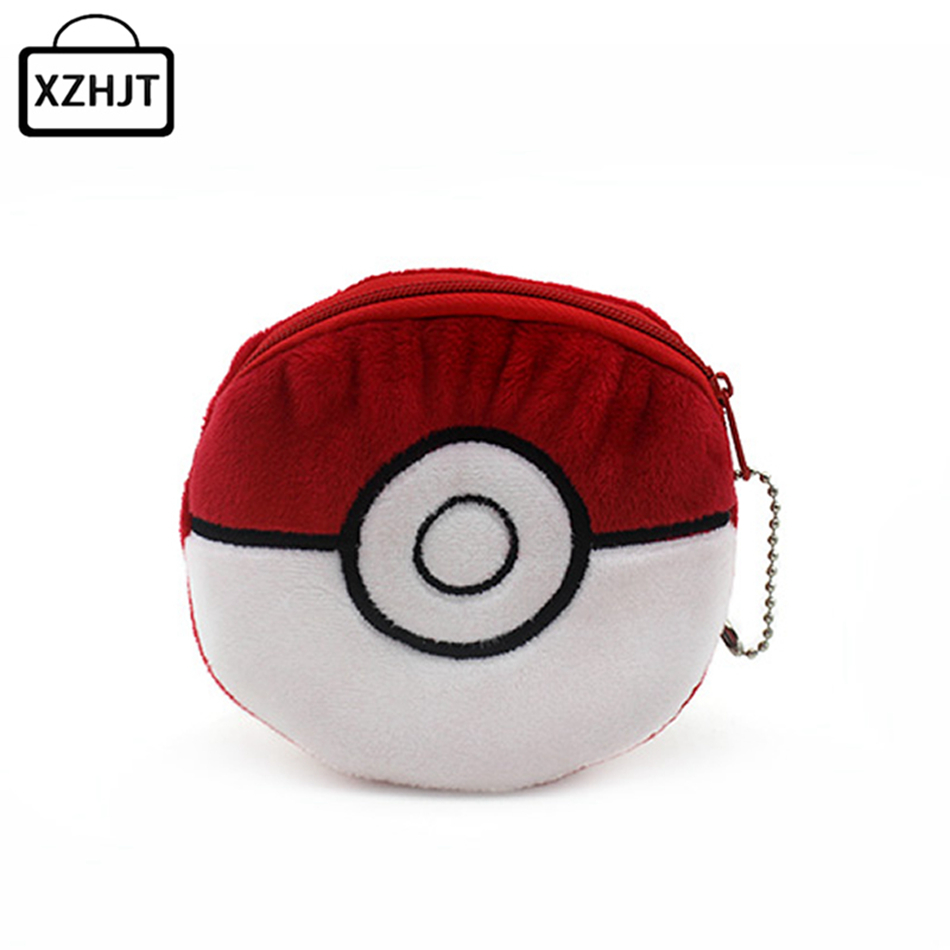 Cartoon Pokemon Go Pikachu Plush Coin Purse Children Zipper Change Cute Pokemon ball Purse Wallet Pouch Bag For Kids Gift pu leather cartoon pikachu short purse children gift pocket monster wallet pokemon go geme