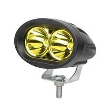 Светодио дный 2 шт. 3 дюйма 20 Вт светодиодный свет работы Offroad Мотоцикл внедорожник ATV 4WD 4X4 вождения Туман лампа В 12 В 24 фар желтый синий белый цвет