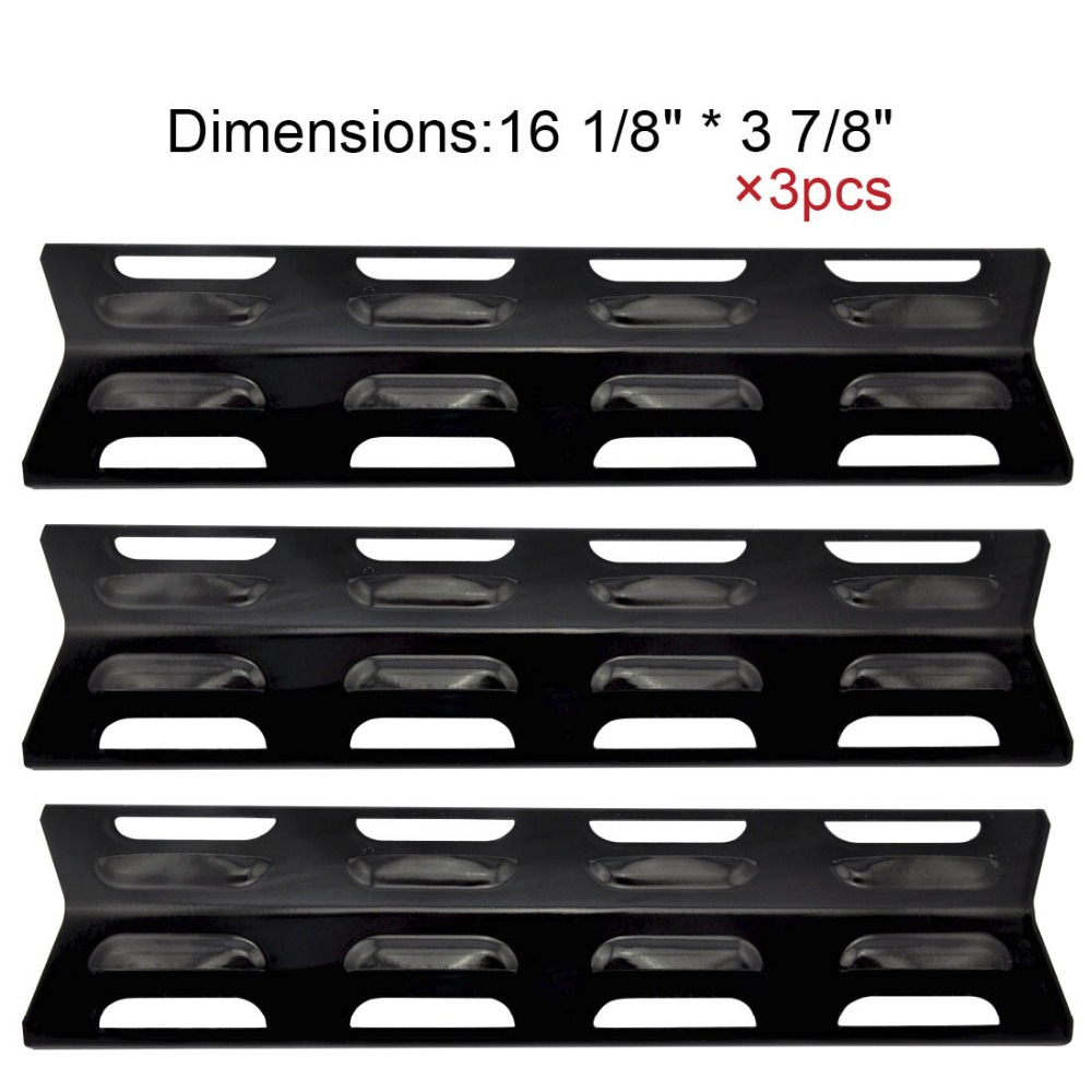 92071 (3-pack) Replacement Porcelain Steel Heat Plate/shield for Select Gas Grill Models By Kenmore, Master Forge and Others