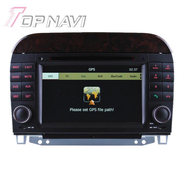 7 pulgadas Mueca de Radio Estéreo Del Coche Para El Benz S W220 (1998 1999 2000-2005) Audio Auto Car Electronics Car PC Gps Reproductor De Vídeo