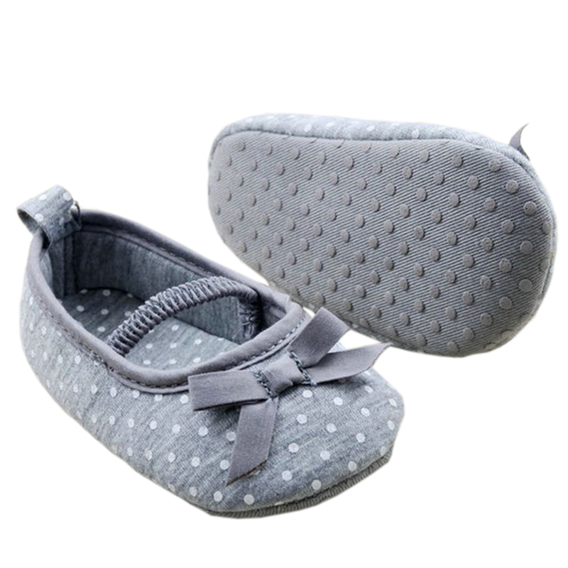 0-18months Girl Gray Newborn Baby Prewalker Princess Shoes Infant Toddler Butterfly Flower Sole Crib Shoes First Walkers T0181