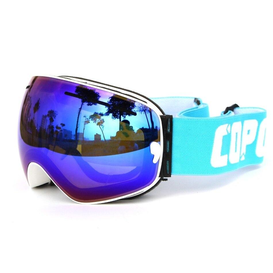brand ski goggles 2 double lens UV400 anti-fog spherical ski glasses skiing men women snow goggles GOG-201+Lens+Box Set
