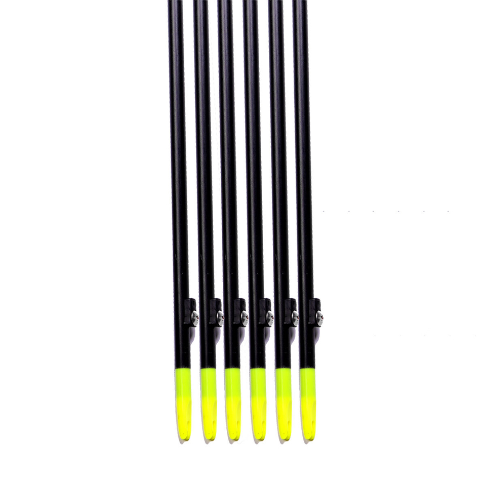 "Image 2 - 3/6/12 pcs Professional 35"" Long Bow Fishing Shooting Arrows 8mm Fiberglass Shaft Arrows for Compound/Recurve Bow B-in Bow & Arrow from Sports & Entertainment"