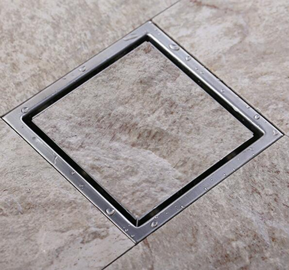 Superb Aliexpress.com : Buy Square 110*110mm Modern Brass Grille Shape Bathroom  Floor Waste Grate Shower Drain Drainer Bathroom Sanitary Floor Drain 5566  From ...