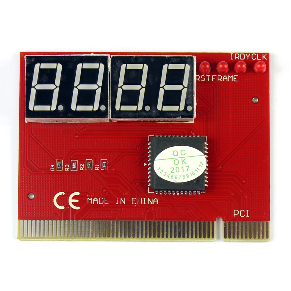 F09827 4 Digit Code Mainboard Motherboard Diagnostic Analyzer Tester POST Test Card for PCI PC Laptop