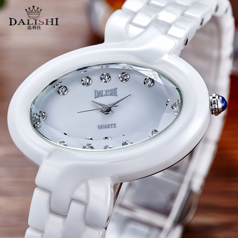 DALISHI Brand Quartz Hour Women Watches Ladies Business Dress Watch Girl Fashion Casual Oval Dial Simple Clock Reloj Mujer dalishi brand ceramic ladies charm watch fashion casual reloj mujer quartz watches fashion business male clock montre homme