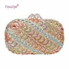 Fawziya Handmade Bag Handbags For Women Clutch Purse With Strap Evening Bag Crystal