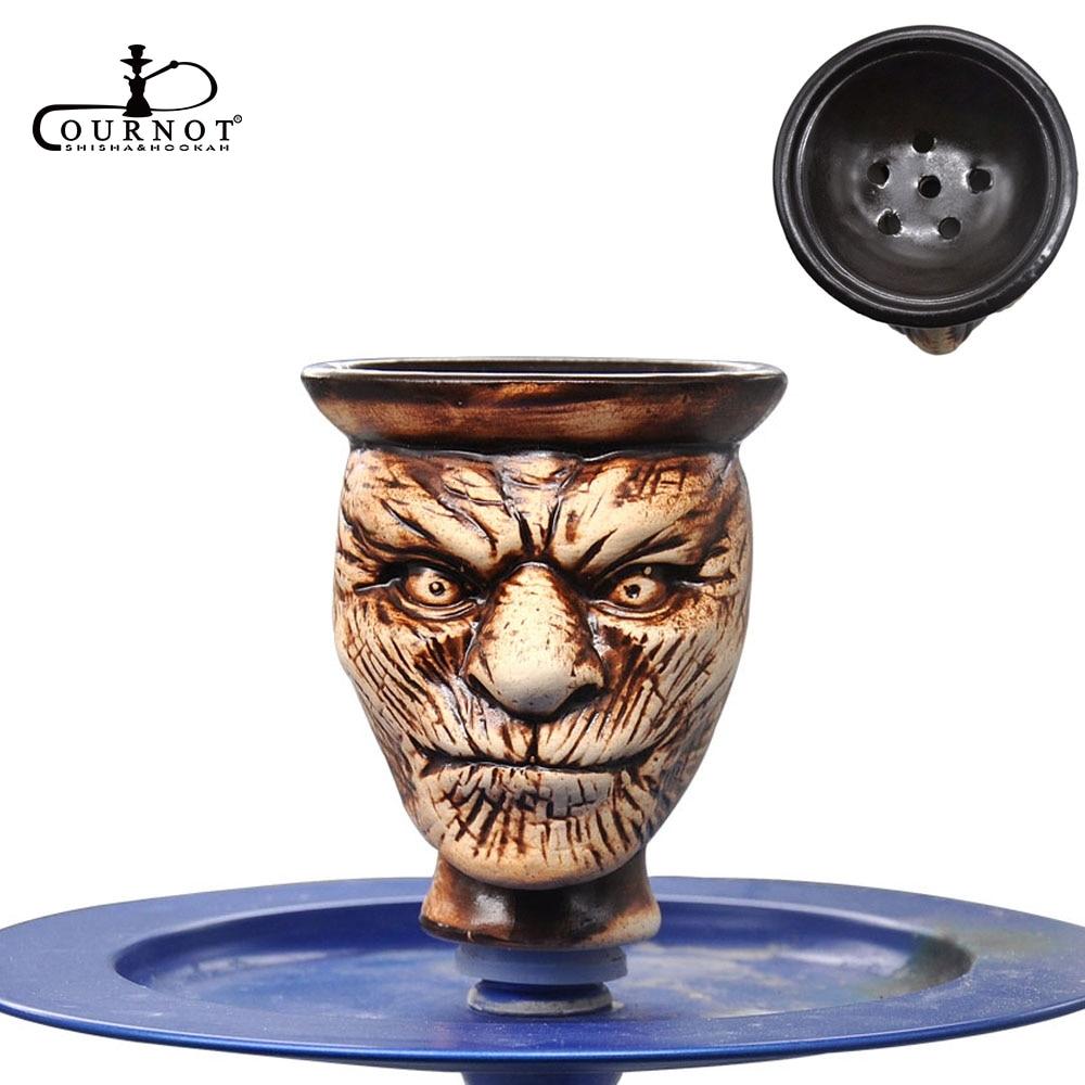 COURNOT Ceramic Shisha Hookah Bowl for Hookah Tobacco Shisha Kaloud Hookah Shisha Head Sheesha Chicha Narghile Accessories in Shisha Pipes Accessories from Home Garden