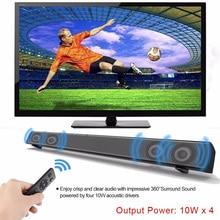 4ef093fbff8 Bluetooth Speaker Wireless Soundbar system TV sound bar 40W subwoofer  Stereo Surround USB AUX Boombox Computer