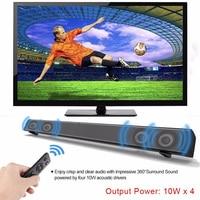 40W Soundbar Bluetooth Speaker TV Sound bar Computer loudspeaker wireless Speaker Column USB AUX Music Player Boom Box+Control