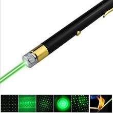 Military 532nm Green Laser Pen Light Hunting Green Dot USB Rechargeable 5mW Beam Lazer Pointer Pen with Built-in Battery Camping