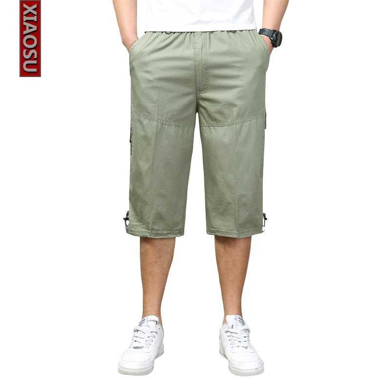 Летние Мужские брюки карго свободные джоггеры Армейский зеленый шаровары Камуфляж капри брюки Для мужчин Уличная Хло