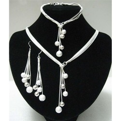 Big sale women s jewelry polished finished bracelets y shape necklaces drop earrings silver plated beads.jpg 250x250