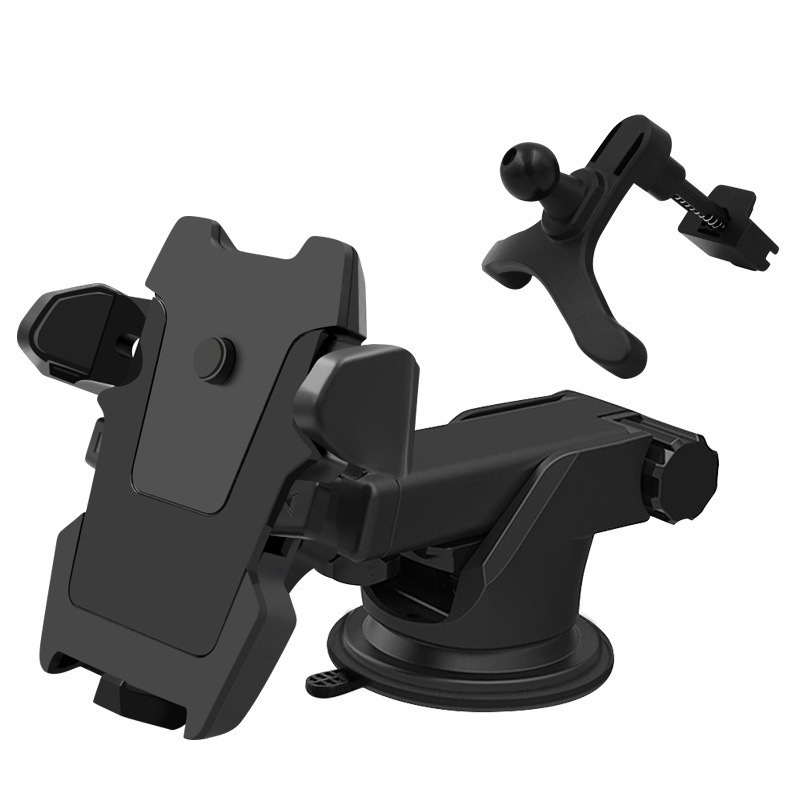 CLWEIB Car Phone Holder For iPhone X 7 Samsung S9 in Car Central Console Phone Stand Automatic Locking Multi Function Holder