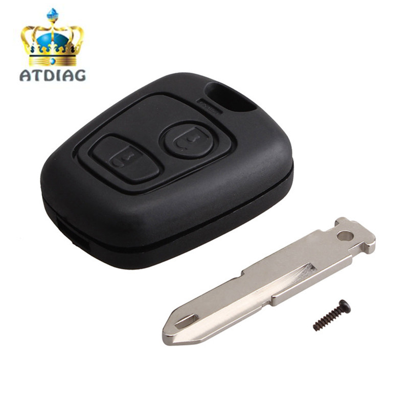 new 2buttons ne73 blade remote key fob for peugeot 206. Black Bedroom Furniture Sets. Home Design Ideas