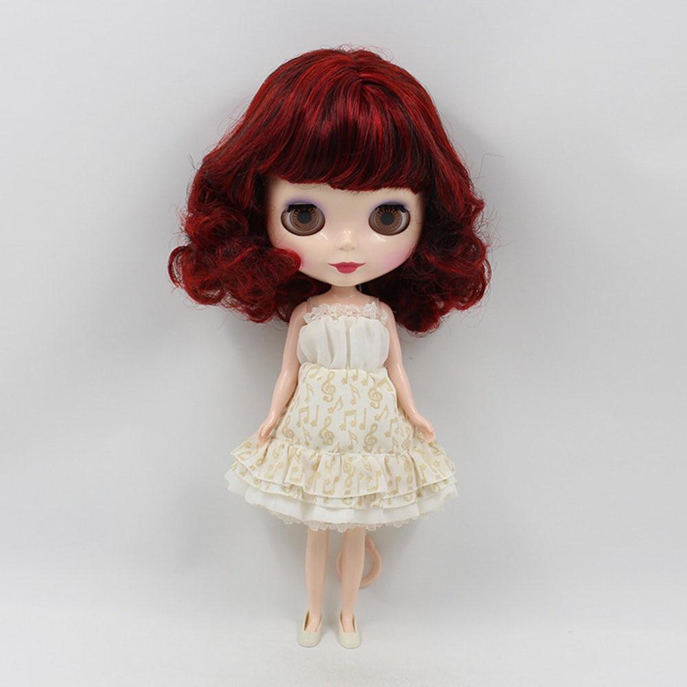 Blyth pop normale lichaam, rood haar met pony bob haar stijl, factory130MMBL12489103blyth het geschikt voor meisje pop Kind gift-in Poppen van Speelgoed & Hobbies op  Groep 2