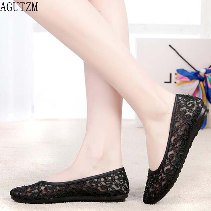 5847034ab194 Summer Women Flats Shoes Female Breathable Mesh ballet flats Ladies slip on ballerina  flats Loafers shoes