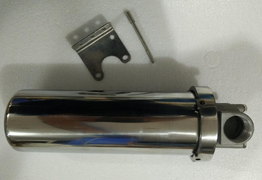 10 pouces chaude filtre à eau filtre à haut débit 304 boîtier en acier inoxydable avec 316 bouchon en acier inoxydable 1 pouces port
