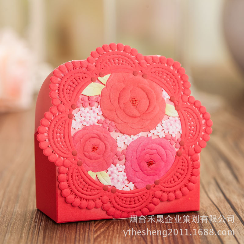 Popular Red Flower Favor Boxes-Buy Cheap Red Flower Favor Boxes ...