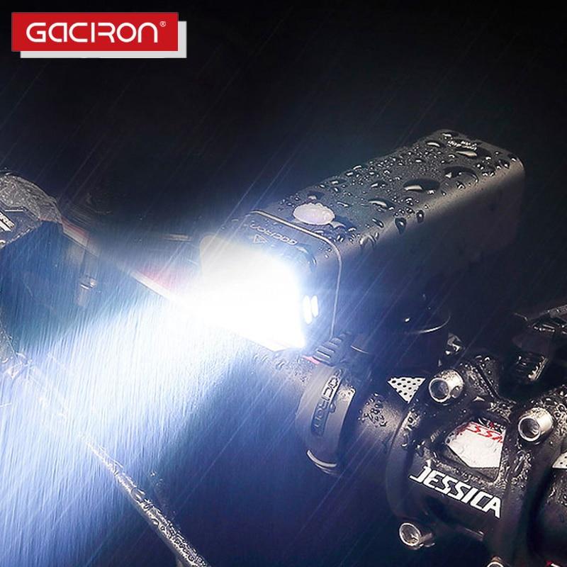 GACIRON Bicycle Light 600 Lumens 2500mAh Bike Front Headlight USB Rechargeable Cycling Flashlight IPX6 Waterproof LED Lamp 5Mode