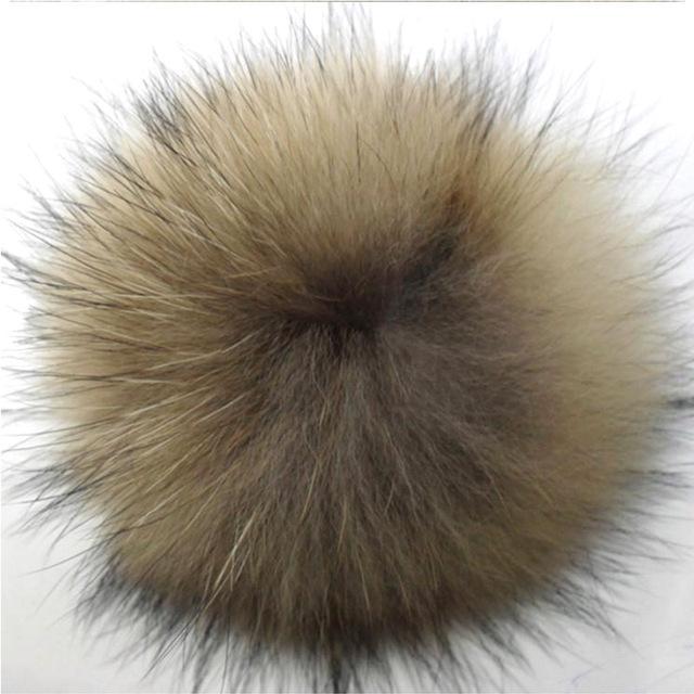 Chapéus de inverno Pom Pom Para Calçados Bonés de Pele de Guaxinim Bola De Pêlo 15-16 cm Chapéu de Pele de Guaxinim Verdadeiro Chaveiro Bola Bolas de Luxo Bonito Acessórios