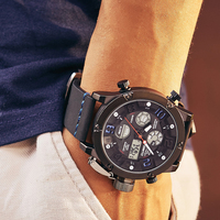 GIMTO Cool Sport Men Watch Digital Dual Time Quartz Wristwatch Military Male Casual Watches Waterproof Clock