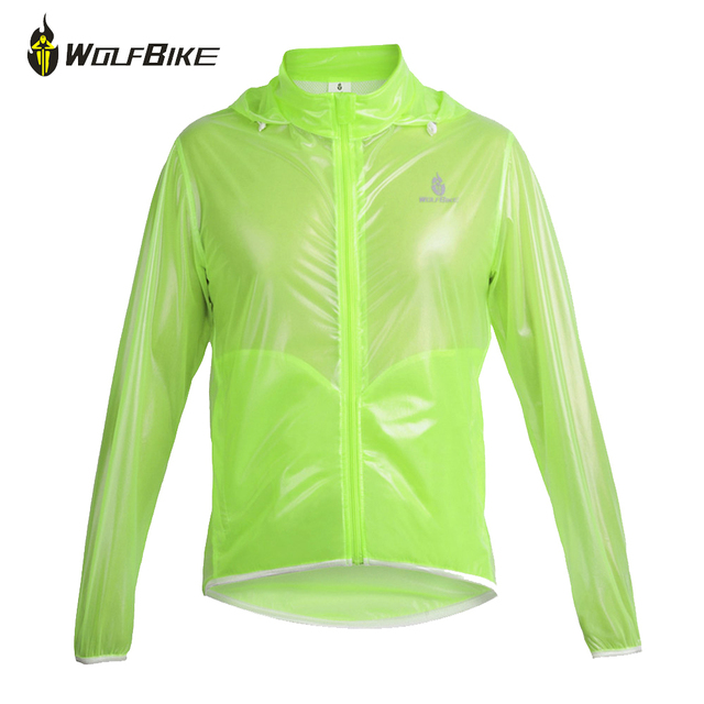 Wolfbike Green Cycling Jersey Rain Jacket Men and Women's ...