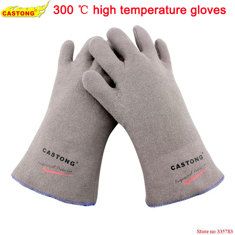 250 degrees heat insulation gloves High temperature resistant gloves to hot flame retardant anti-scald fire Aramid fiber woven 1 pair heat resistant gloves for outdoor camping kitchen cooking aramid heat insulation oven mitts red silicone flame retardant