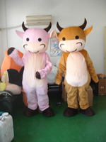 Christmas Bubble baby cow Mascot Costume Cartoon Costume Free shipping
