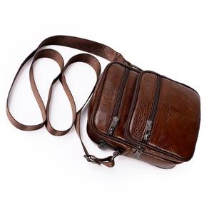 Image 3 - Genuine Leather Crossbody Men Messenger Bag Hot Sale Male Small Man Flap Fashion Shoulder Bags Mens Travel New Handbags ZZICK