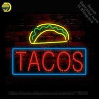 Неоновая вывеска для Tacos неоновая лампа знак Бизнес рекламировать Войдите неоновая трубка коммерческих свет рукоделие Publicidad лампы магазин