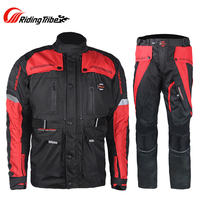 Motorcycle pull suit Men Off Road Racing Clothing Windproof Waterproof Motorcycle Touring Travel Riding Jacket moto Pants Suit