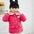 Winter Jacket for Girls Cute Turn-Down Collar Princess Winter Coat for Girls Kids Padded Jacket Casual Children's Outerwear