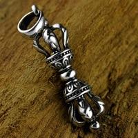 925 Silver Jewelry Retro Necklace Diamond Pendant Men Women Personality Thai Silver Pendant A Generation