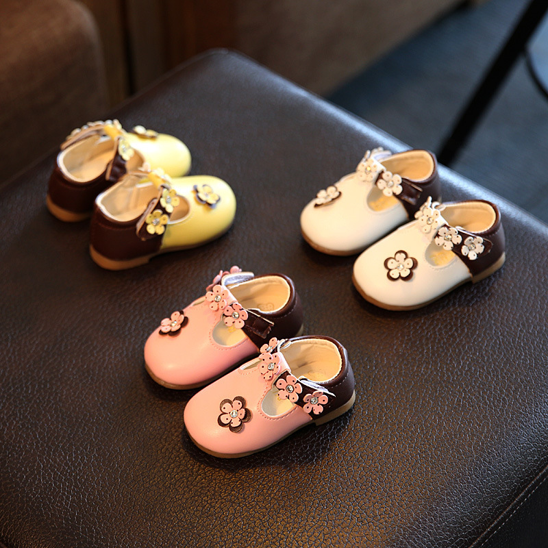 newborns fashion kids casual flowers leather loafers cute princess single sneakers baby girls toddler shoes infant first walkers