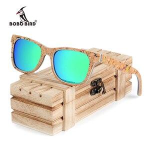 Image 1 - BOBO BIRD Sunglasses Women Colorful Frame Polarized Fashionable Vintage Wooden Glasses For Gift oculos de sol feminino AG021
