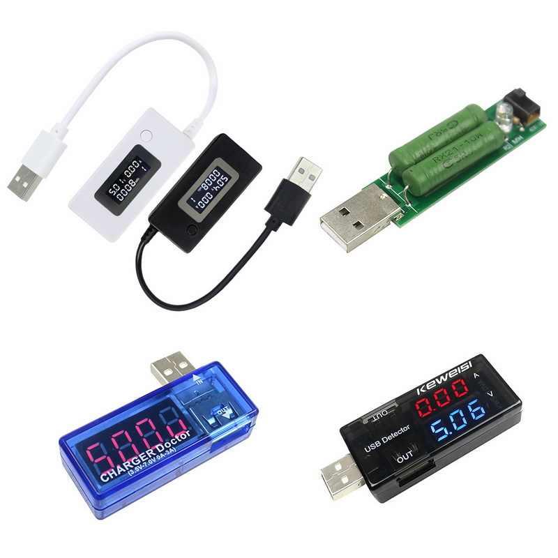 Junejour USB الجهد الحالي متر LCD شاشة البسيطة المحمولة الإبداعية الهاتف جهاز قياس الجهد الكهربائي طبيب المحمول الطاقة شاحن كاشف