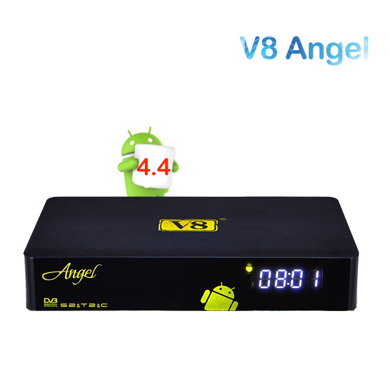 2017 New Arrival Android TV box Freesat V8 Angel support CCcam IPTV Amlogic S805 TV Tuner DVB-S2 T2/C 1GB 8GB Satellite Receiver freesat v8 angel receptor satellite receiver android 4 4 smart tv box 1 year cccam free cline server support iptv dvb s2 t2 c