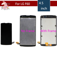 4.5 F60 LCD For LG Optimus F60 lcd screen D390 L Fino D290 D290N D295 LCD Display Touch Screen Digitizer with frame assembly