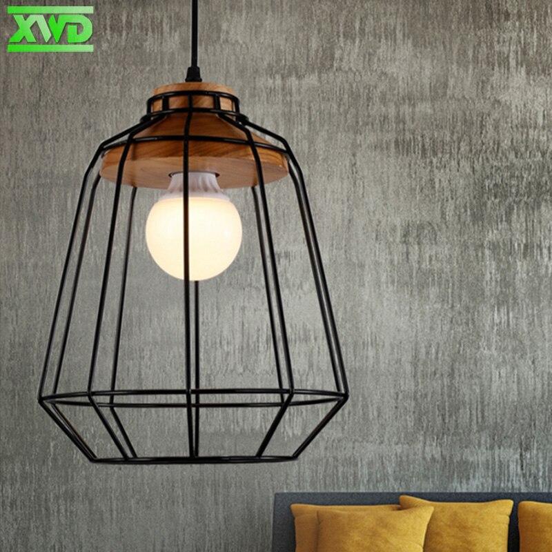 Lámpara colgante de interior de madera de hierro de la vendimia Bar - Iluminación interior - foto 3