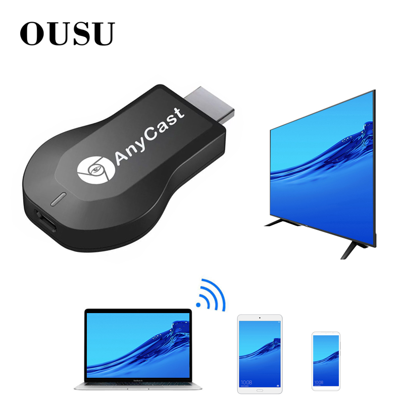 OUSU 1080P USB Bluetooth Receiver AUX Adapter Wireless HDMI Receptor Audio Bluetooth Transmitter For Headphone 4K TV Projector