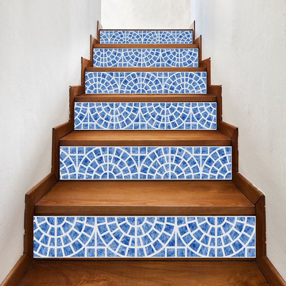 13Pcs Vinyl 3D Christmas Stair Riser Decals Wall Tile Stickers Self Adhesive