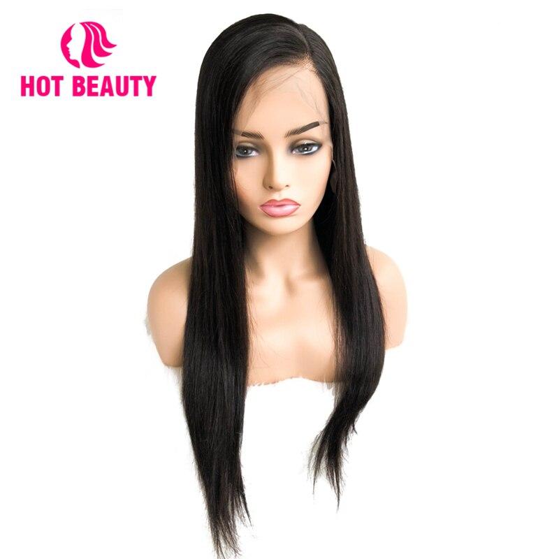 Chaude Beauté Cheveux 360 Dentelle Frontale Perruque Droite Brésilienne Remy Cheveux Perruques Pré Pincées Avec Bébé Cheveux 12-26 pouce Naturel Couleur Perruque